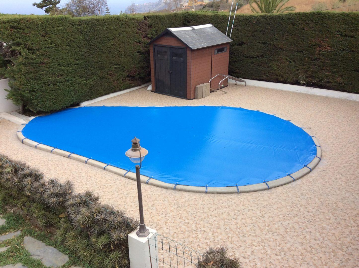 Lona piscina forma de riñón. ¿Cómo medirla?